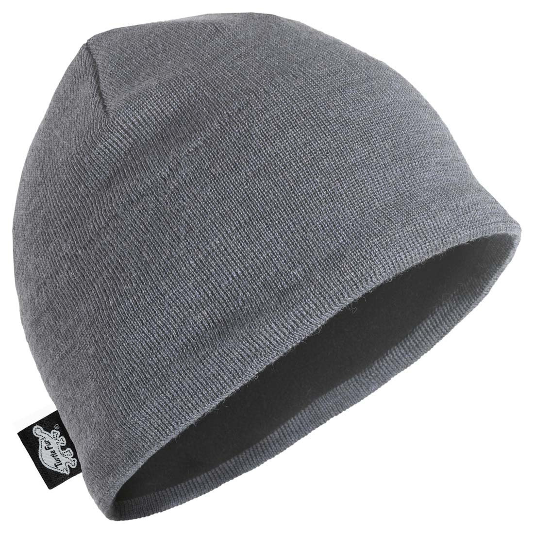 Turtle Fur Mens Solid Midweight Merino Wool Beanie - XL