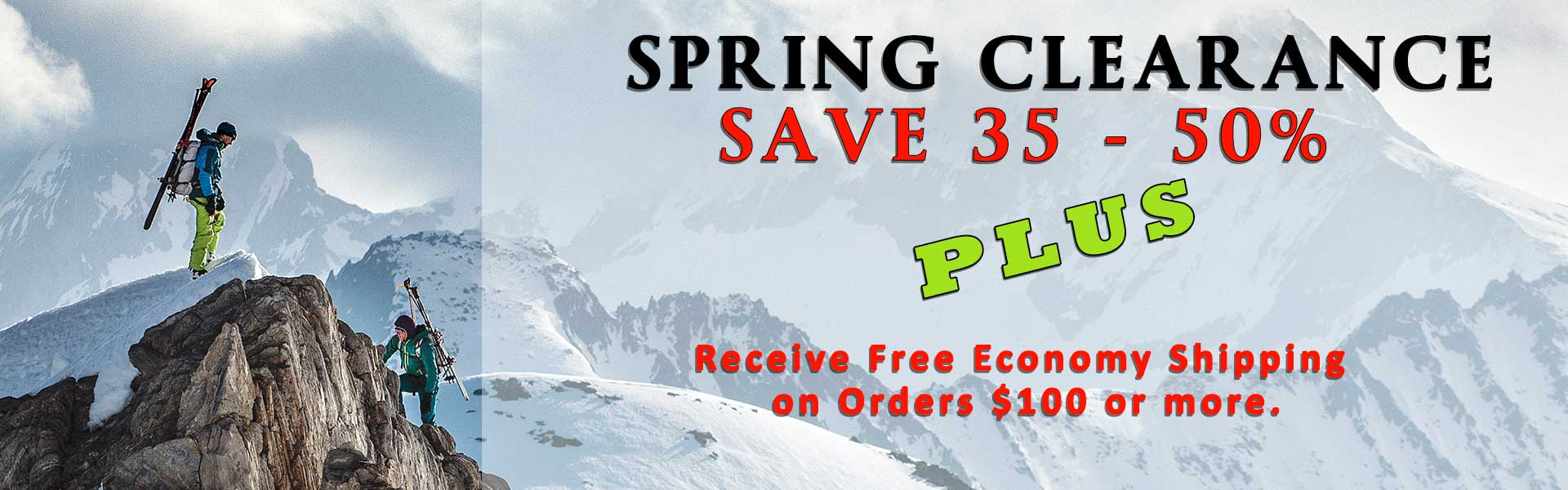 Huge savings on all winter ski jackets and pants