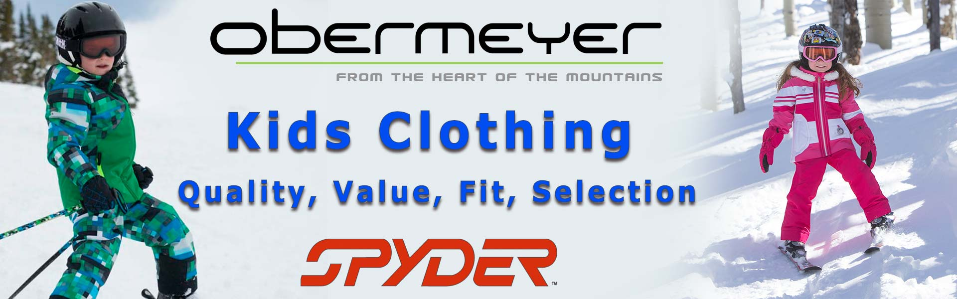 Kids Jackets and Pants from Obermeyer & Spyder at the Bahnhof